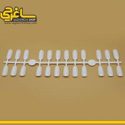 پالت طراحی شاخه ای مدل بیضوی رنگ سفید