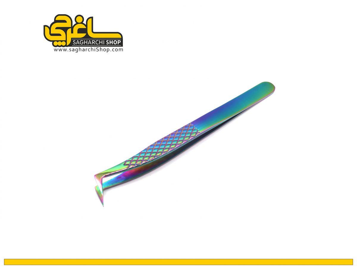 پنس مژه 90 درجه ML هفت رنگ
